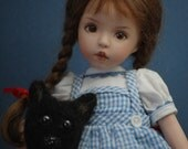 Dianna Effner all porcelain 8 in doll by Kuwahi dolls.