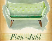 Modern Design Deck - F is for Finn Juhl  - small print - of  a mid century icon