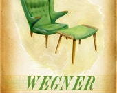 Modern Design Deck - W is for Wegner 2 - small print - of  a mid century icon