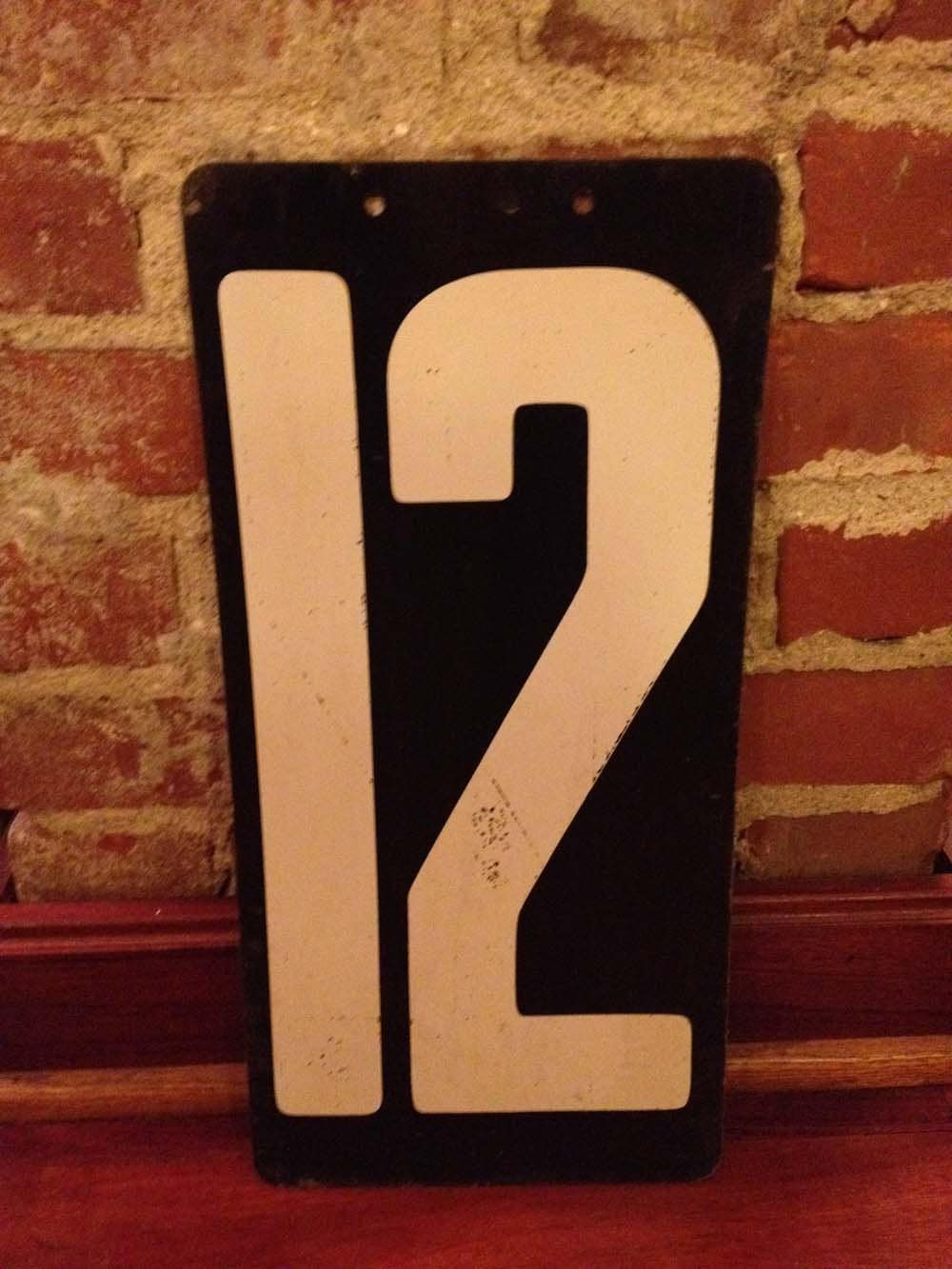 Vintage Railroad Number 12 By FrenchHenFarm On Etsy