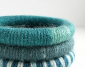 Set of 3 Wool Wrapped Stacking Bangles (5040-1915)   FREE SHIPPING