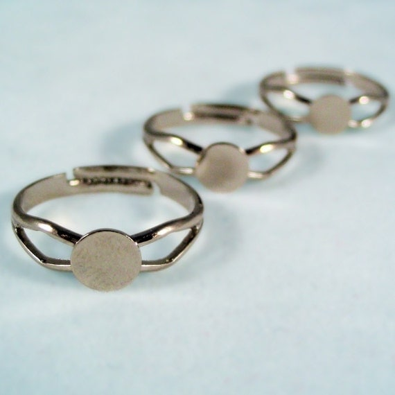 Ring Blanks With a Little More Class --- 30 --- Adjustable ring blanks with a 6MM glue pad