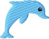 Little Dolphin Machine Embroidery Design Mini