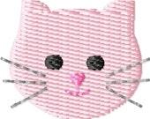Kitty Face Machine Embroidery Design Mini