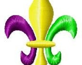 Fleur de lis Multi-Colored Mini Embroidery Design
