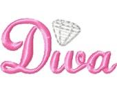 Diva Mini Machine Embroidery Design