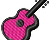 Guitar Mini Machine Embroidery Design
