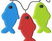 Three Fish Mini Machine Embroidery Design