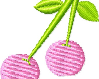 Cherries Machine Embroidery Design Mini