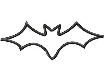 Halloween Bat Machine Embroidery Applique Design