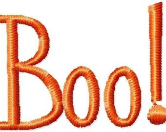 Boo Halloween Machine Embroidery Design Mini