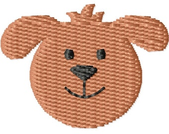 Puppy Face Machine Embroidery Mini Design