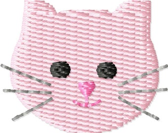 Kitty Face Machine Embroidery Design Mini