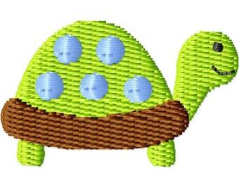 Boy Turtle Machine Embroidery Design Mini