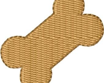 Dog Bone Machine Embroidery Design Mini