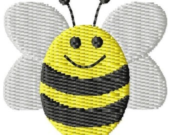 Bumble Bee Machine Embroidery Mini Design