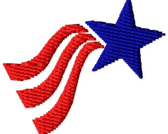 4th of July Mini Machine Embroidery Design