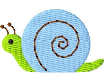 Snail Mini Machine Embroidery Design