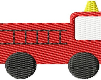 Fire Truck Mini Machine Embroidery Design