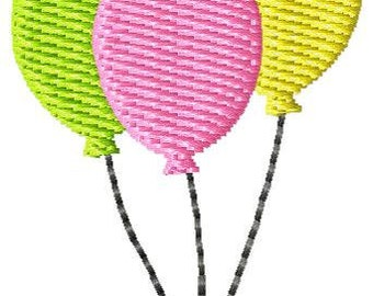 Balloons Machine Embroidery Mini Design