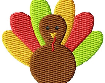 Thanksgiving Turkey 2 Machine Embroidery Monogram Design Mini