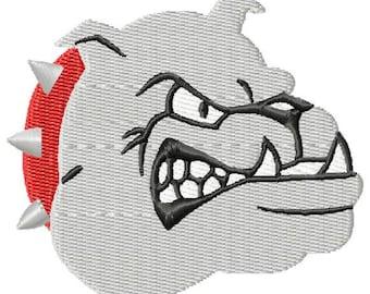 Bulldog Mini Machine Embroidery Design