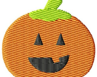 Halloween Pumpkin Face Mini Machine Embroidery Design