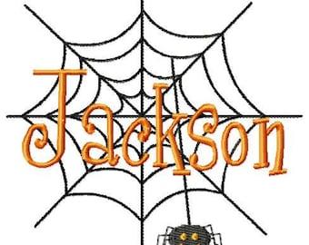 Spider Web Machine Embroidery Design Single