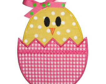Easter Egg Chick Machine Embroidery Applique Design