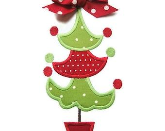 Christmas Tree 5 Machine Embroidery Applique Design