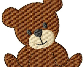 Teddy Bear  Mini Machine Embroidery Design
