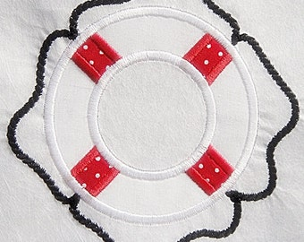 Life Preserver Machine Embroidery Design