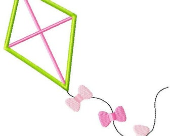 Kite Machine Embroidery Applique Design
