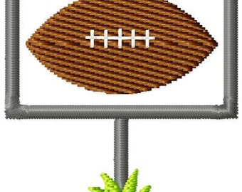 Football Goal Mini Machine Embroidery Design