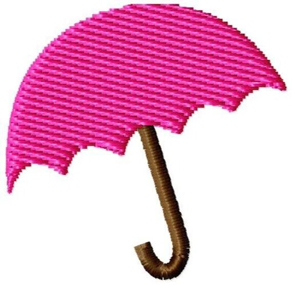 Umbrella Machine Embroidery Mini Design