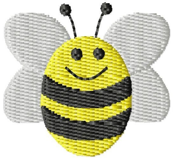 Bumble bee machine embroidery mini design