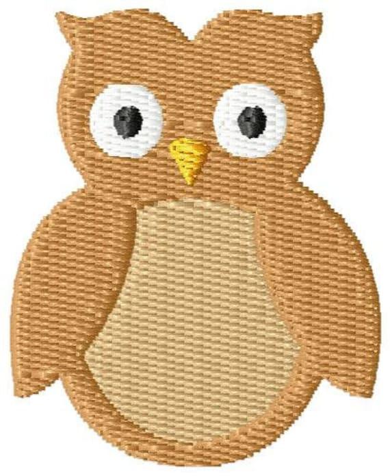 Owl Mini 2 Machine Embroidery Design