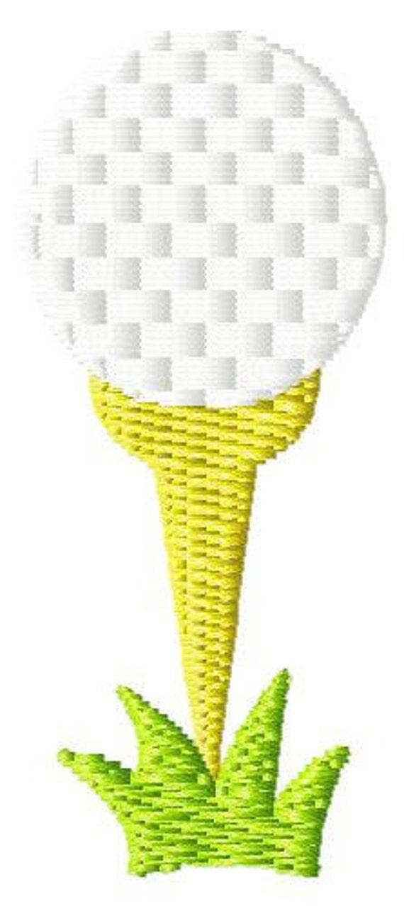 Golf Tee Mini Machine Embroidery Design