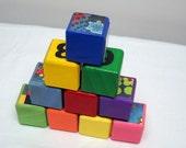 Retro Rainbow educational play blocks