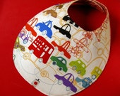 Reversible large bib - cars