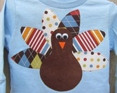Girl or Boy Thanksgiving Turkey t shirt without a name