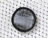 Fascinator kit, black base and millinery veiling