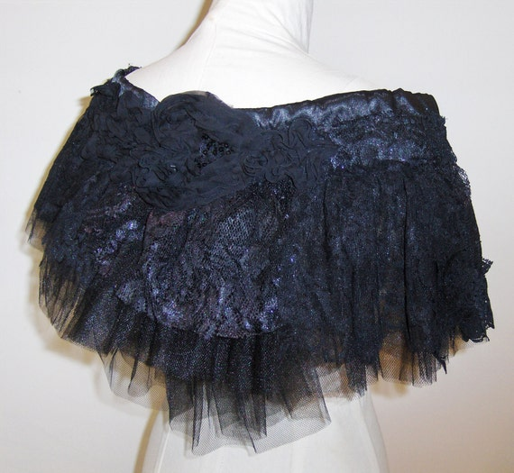 Black Swan Bustle, Lace and Netting.