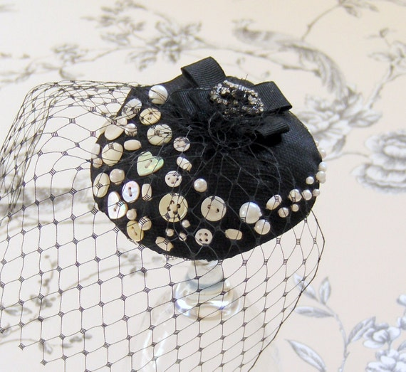 Clearance, Pearly Queen Cocktail Hat.