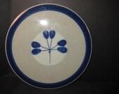 Retro Vintage Knabstrup Ceramic Tile, blue glaze flower,  midcentury modern, on Etsy by TheRetroLife