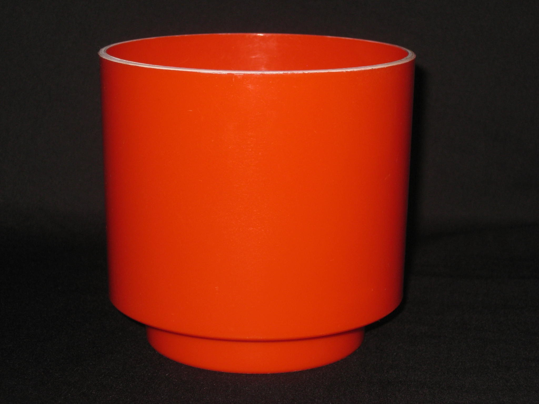 Retro Orange 70 S Flower Pot Planter 1970s Mod Hard