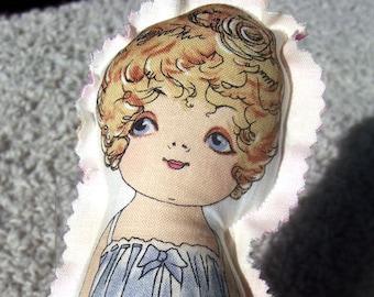 Carla Joyce - Cute Fabric doll - retro like