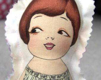 Rosalynd - Cute Fabric doll - retro like