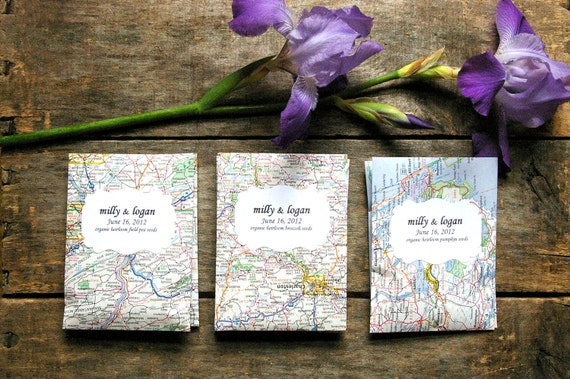 Seed Packet Wedding Favors Party Shower Organic Seeds Heirloom Flower