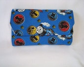 LITTLE ARTIST Crayon Tote in Blue Thomas the Train print